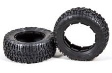 LOSB 7243 Nomad Reifen Set für vorne/hinten, weich 5T