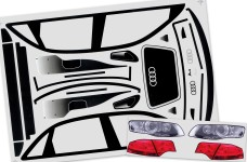 32218 Carson Audi A4 vehicle decals