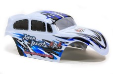 y0754/03 Megacross Beetle body shell 1/6&1/5, painted wh