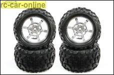 y0788 BigBlock Monsterreifen auf Chrom 6-Speichenfelge f&uum