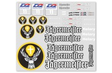 y0683 Large Jaegermeister team decal sheet 420 x 270 mm